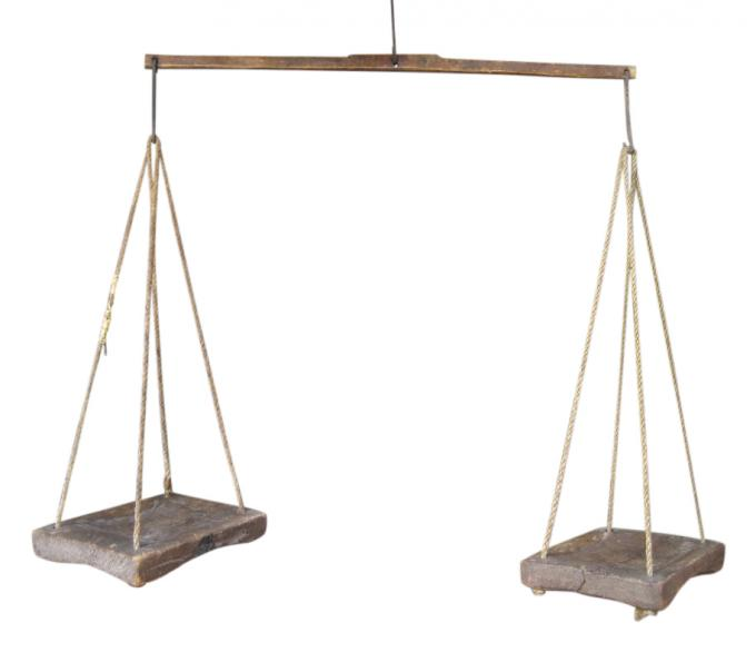 Large Wooden Balance Scale