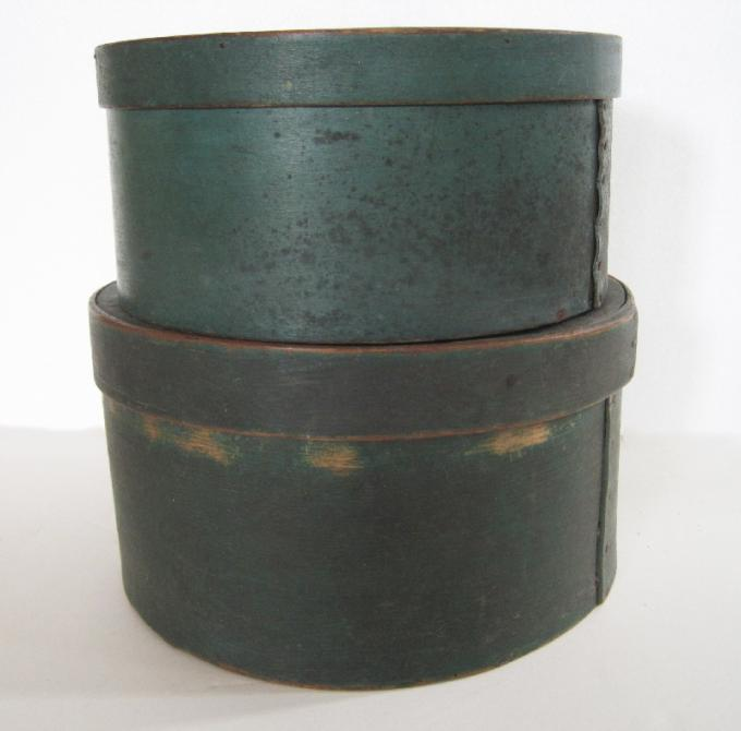 Pair of Green Pantry Boxes