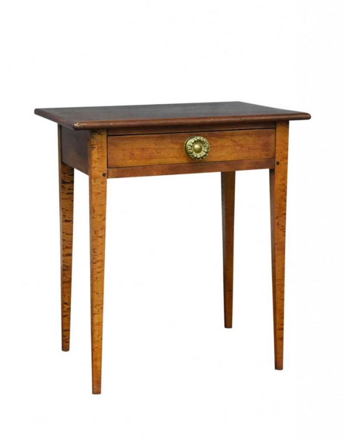 Tiger maple night stand