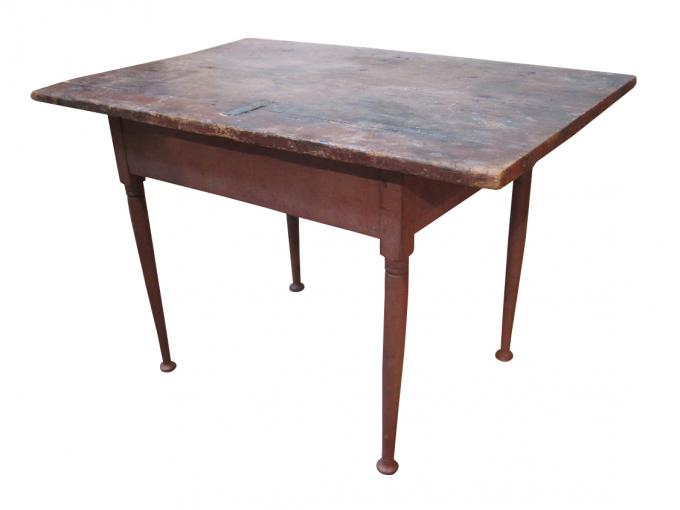 Antique painted Queen Anne tavern table