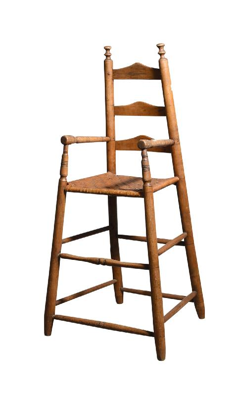 Antique child's ladderback high chair