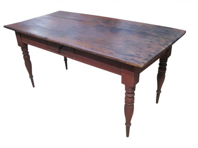 Antique Painted Farm Table