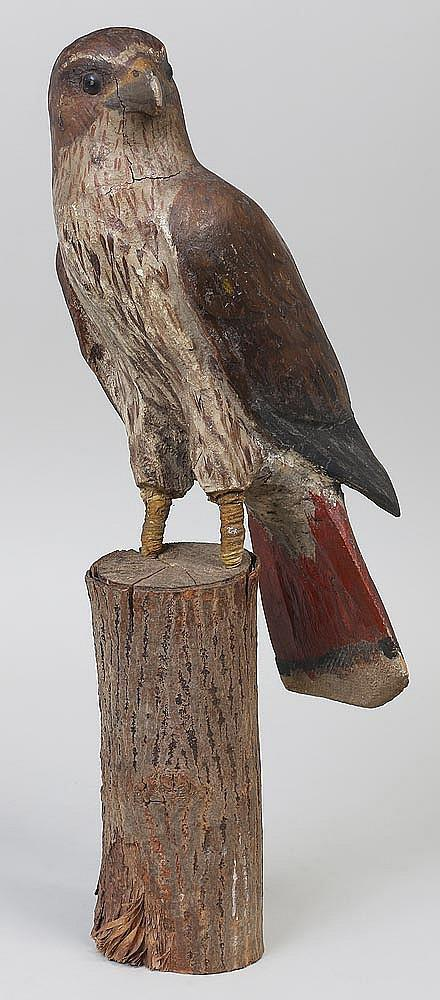 Folk art Peregrine Falcon