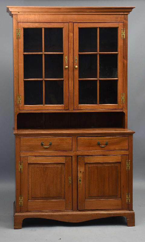Antique Chippendale Step-Back Cupboard