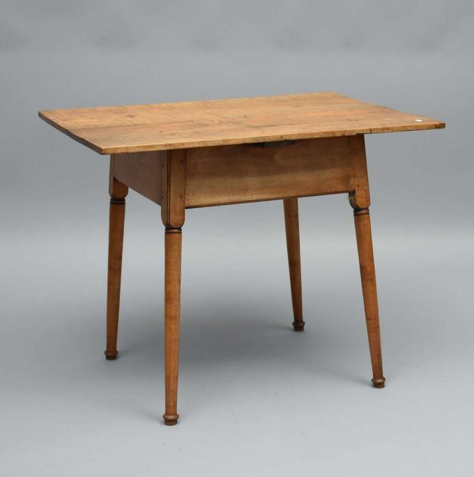 Antique tiger maple tavern table