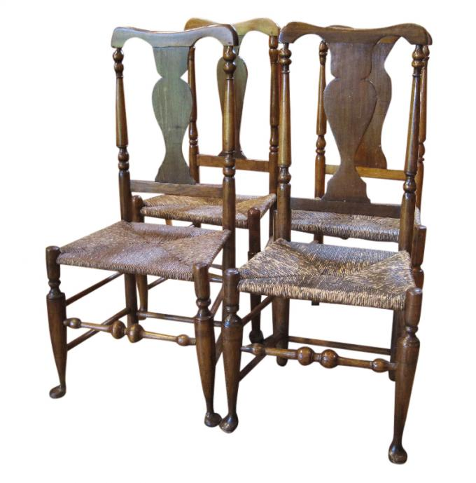 Set of Hudson Valley Queen Anne Chairs