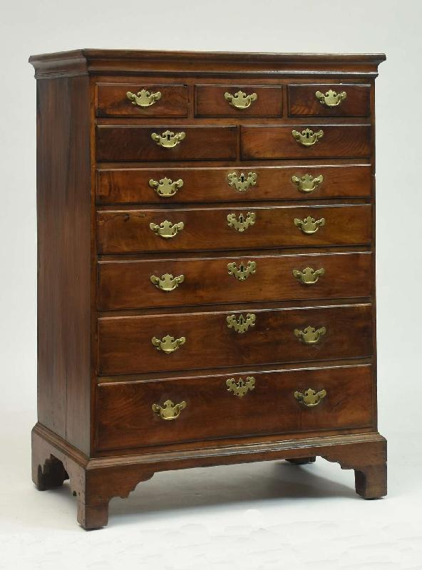 Chippendale Walnut High Chest