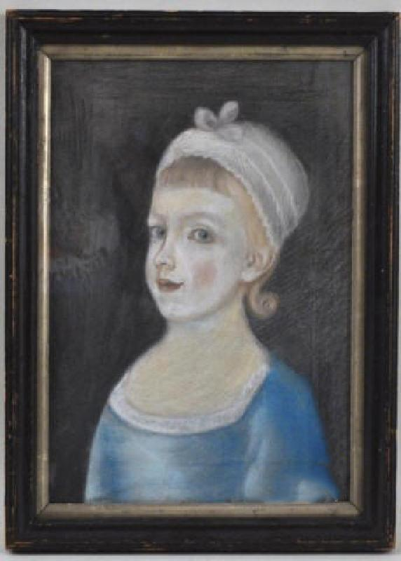 18th Century Pastel of a Young Girl