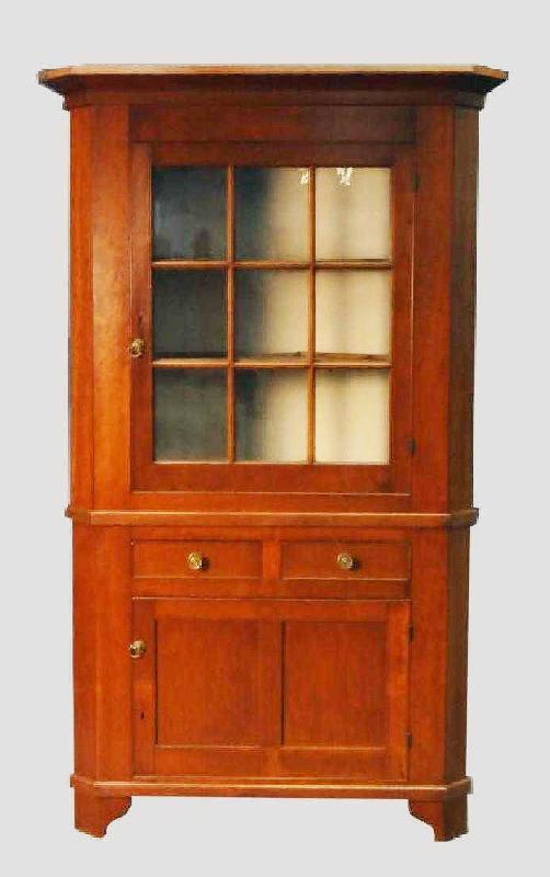 Cherry Corner Cupboard Linda Rosen Antiques - Corner Cupboard - Dig Antiques