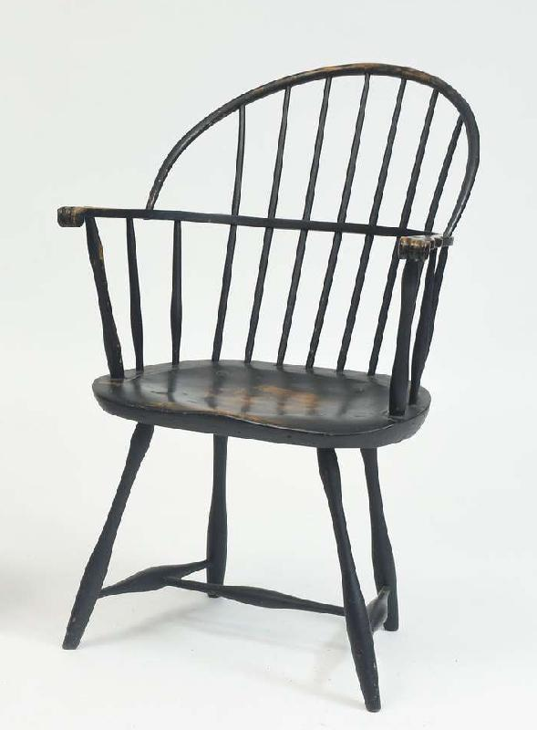 Painted Sack-Back Windsor Armchair