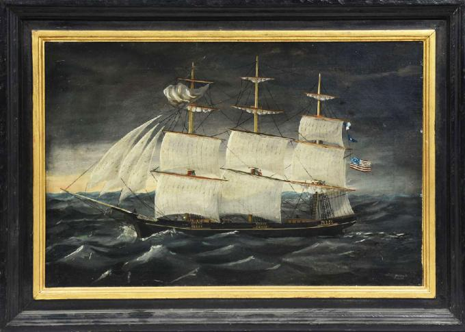 Nautical Painting of the USS Plymouth - Pringle