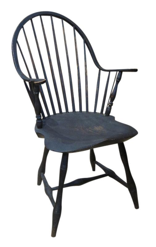 Painted Continuous-Arm Windsor Chair