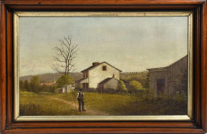 Painting of a Farmhouse Scene