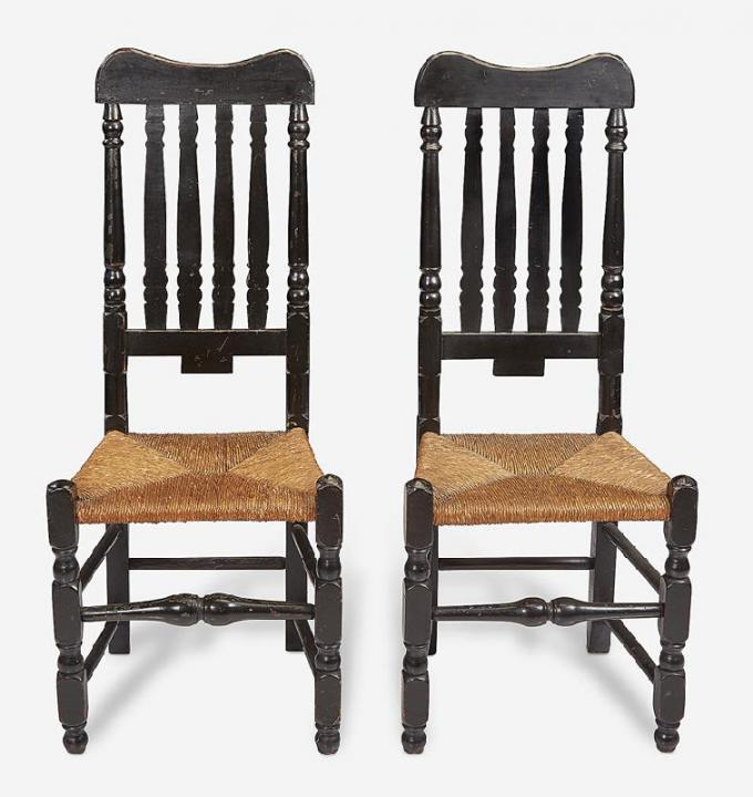 Pair of Banister-Back Side Chairs