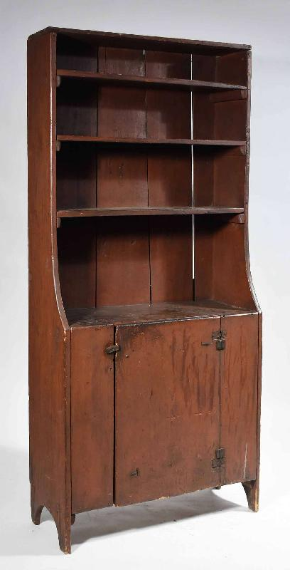 Small Painted Open-Top Cupboard