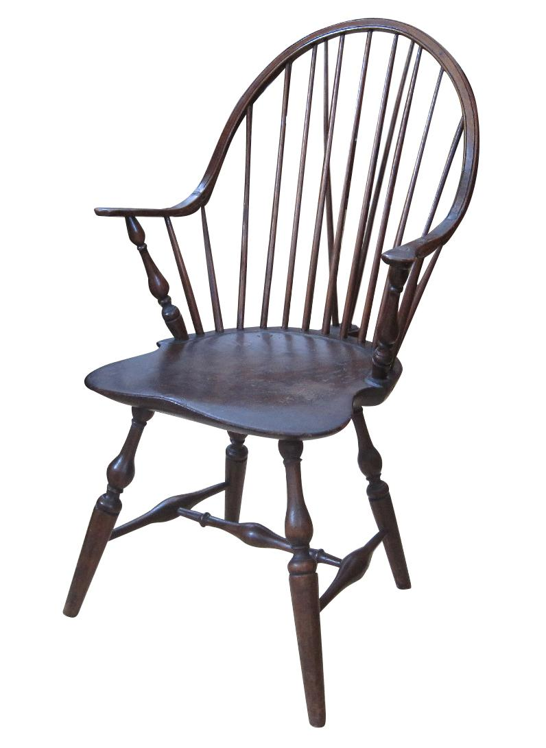 Antique Continuous Arm Brace Back Windsor Chair