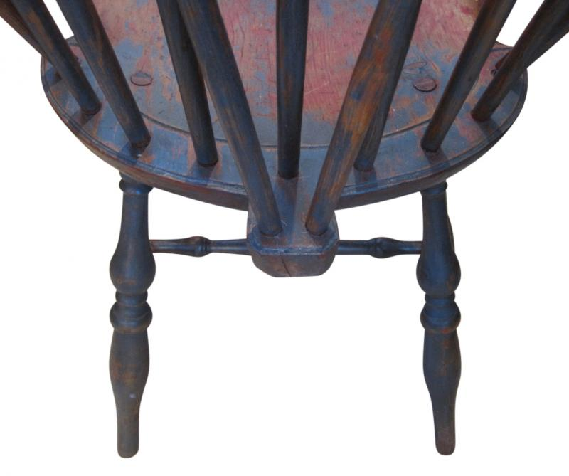 Price: $1,950. Pair Of Antique Brace Back Windsor Chairs