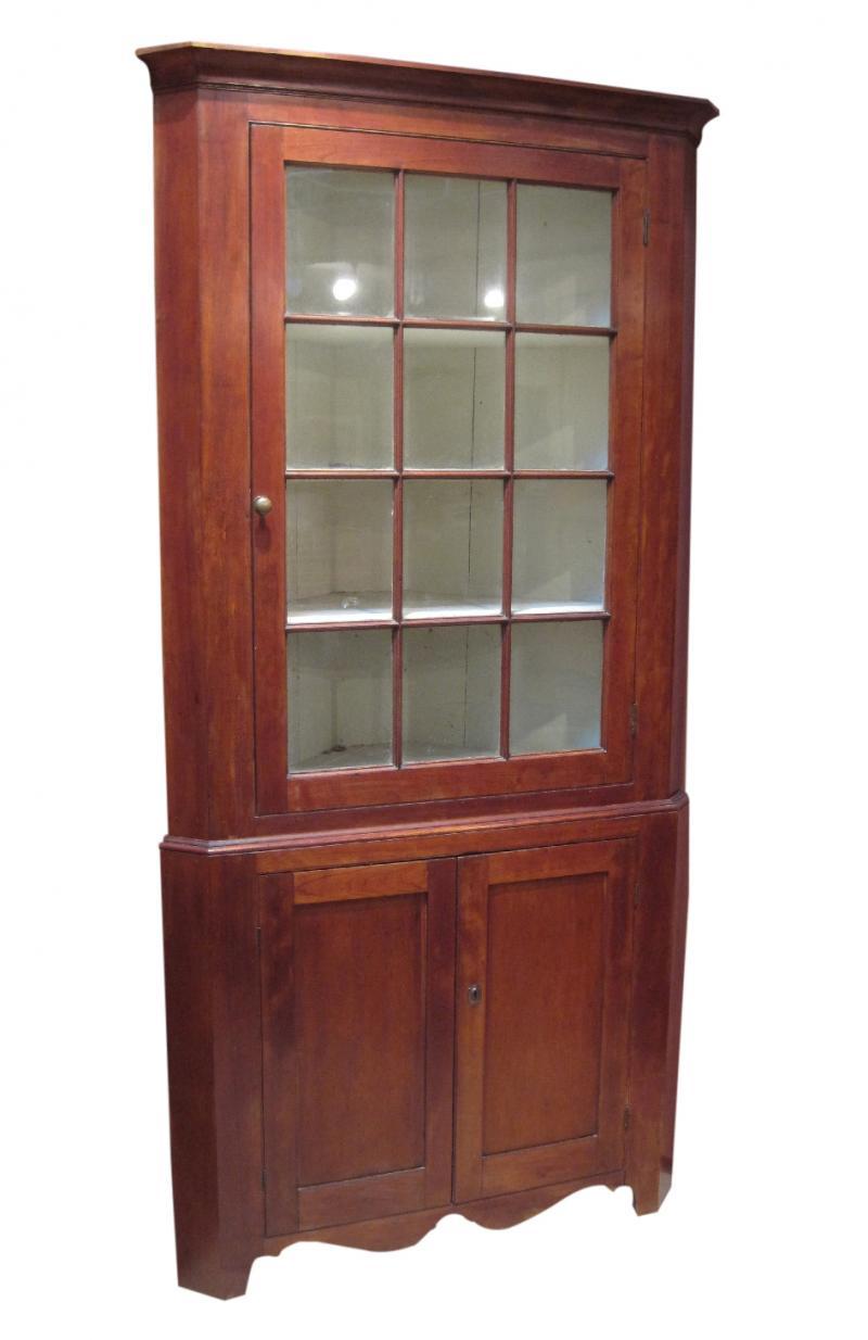 Antique cherry corner cupboard - Cherry Corner Cupboard Linda Rosen Antiques