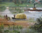 Folk Art River Painting