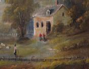 Folk Art Landscape with Farmhouse