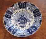 Delft Plate - Peacock Pattern