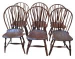 Set of 6 Brace-Back Windsor Chairs