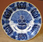 "Dutch Delft ""Peacock"" Charger - P. Vander Strom"