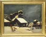 Naive Painting - Winter Scene