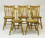 Set of 5 Mustard Arrowback Chairs