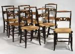 Set of 8 Federal Fancy Chairs